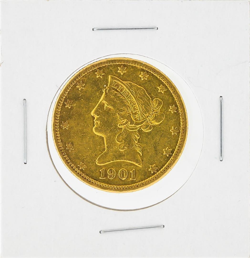 1901-S $10 Liberty Head Eagle Gold Coin AU