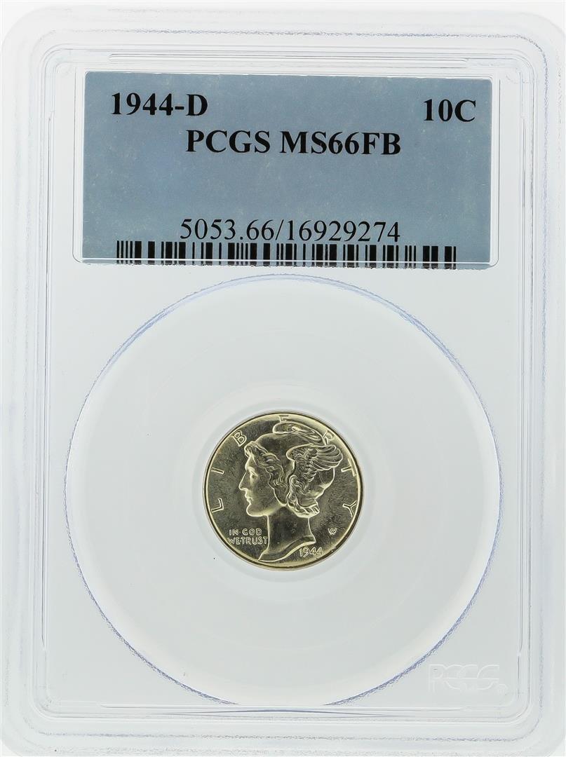 1944-D Mercury Dime PCGS Graded MS66FB