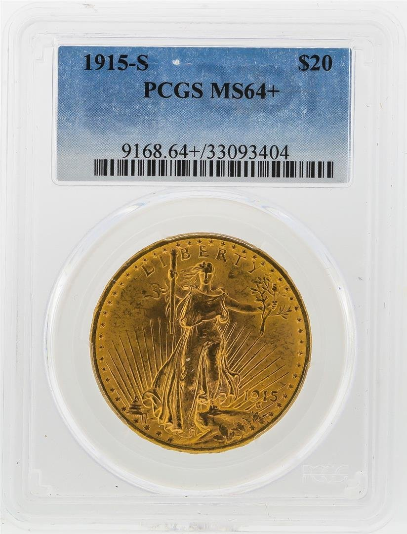 1915-S $20 St. Gaudens Double Eagle Gold Coin PCGS