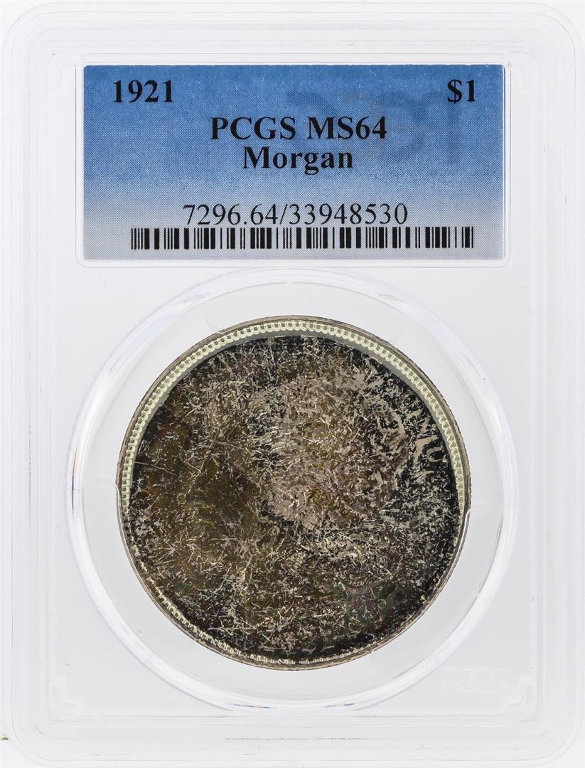 1921 $1 Morgan Silver Dollar PCGS Graded MS64