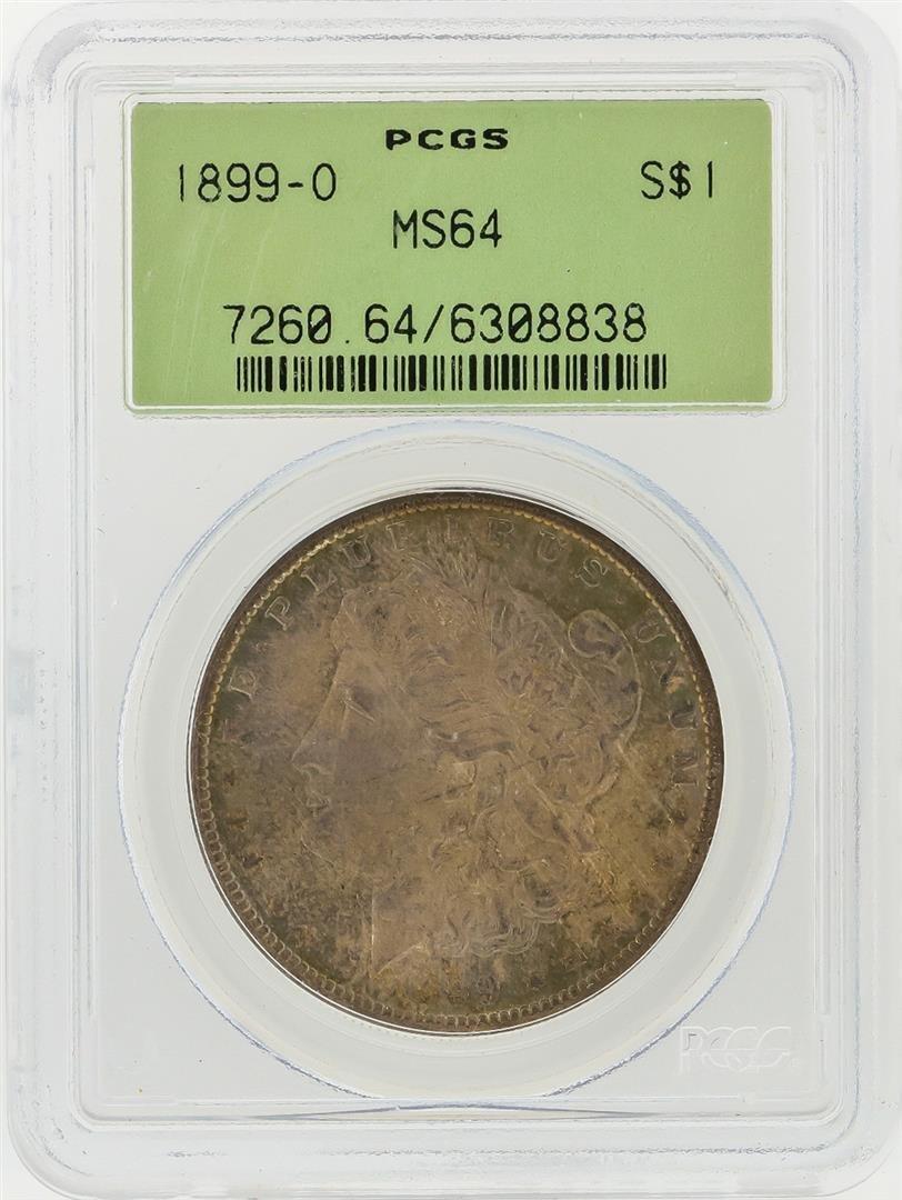 1899-O $1 Morgan Silver Dollar PCGS Graded MS64