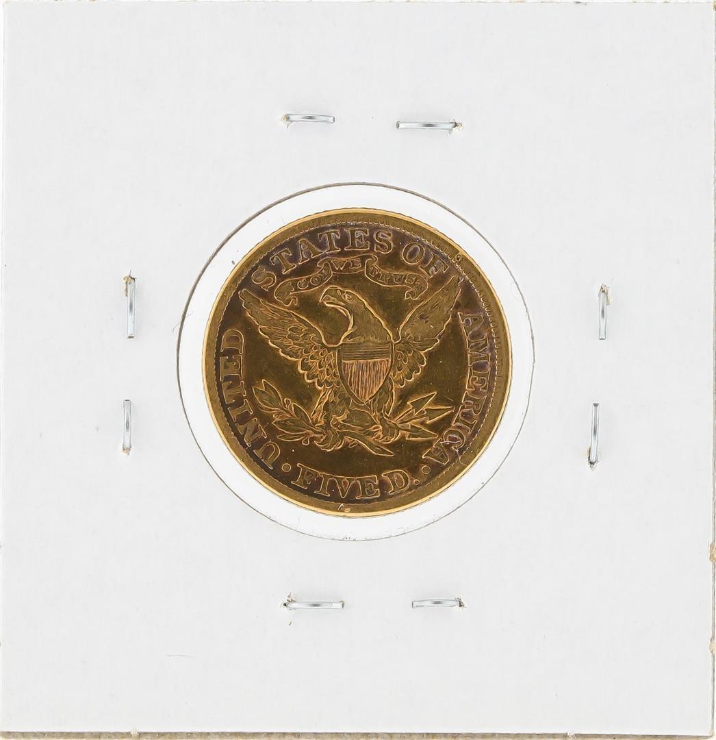 1881 $5 Liberty Head Half Eagle Gold Coin - 2
