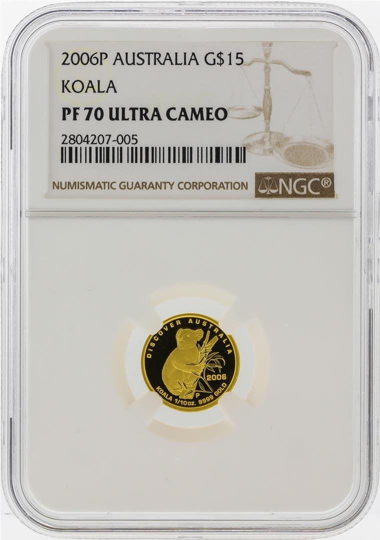 2006-P $15 Australia Koala Gold Coin NGC PF70 Ultra