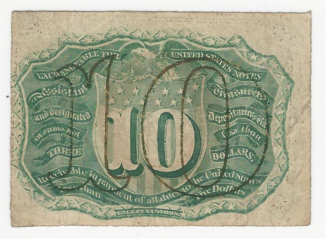March 3, 1863 Ten Cent Second Issue Fractional Note - 2