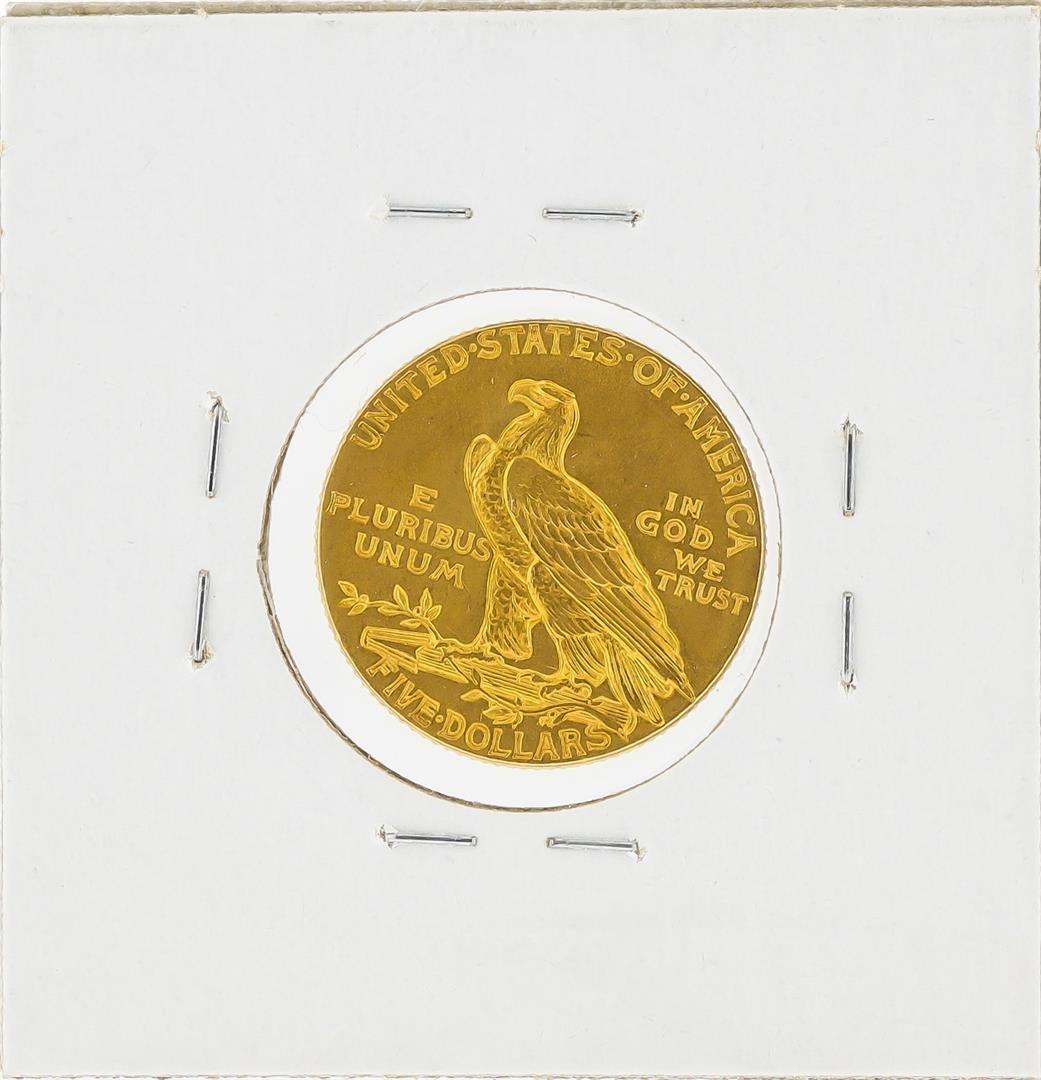 1913 $5 Indian Head Half Eagle Gold Coin - 2
