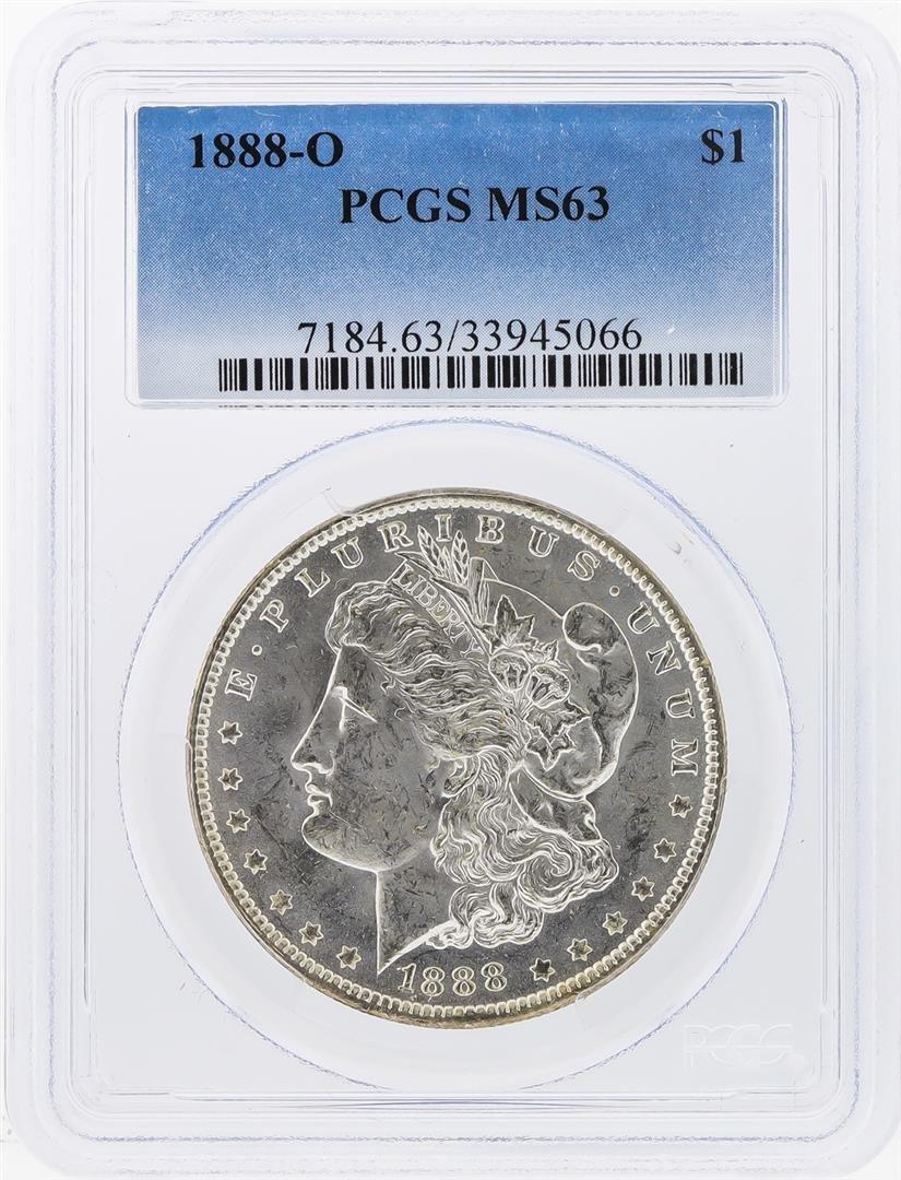 1888-O $1 Morgan Silver Dollar Coin NGC Graded MS63
