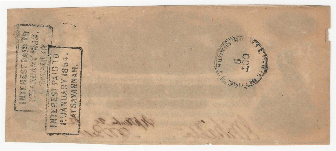 1863 $100 The Confederate States of America Note - 2