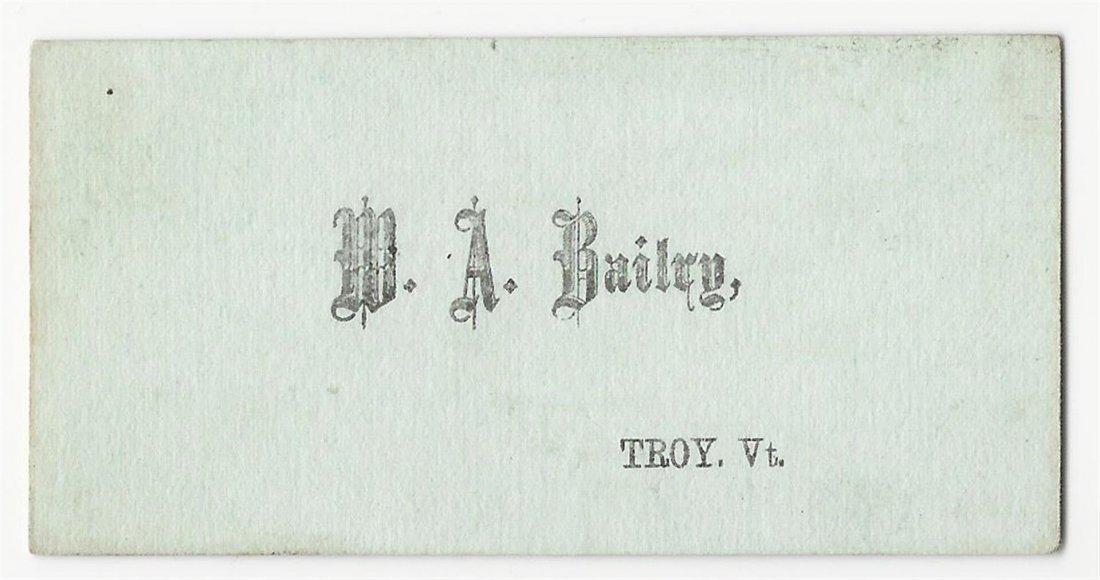 1800s Political Business Card 'Let Only the Government - 2