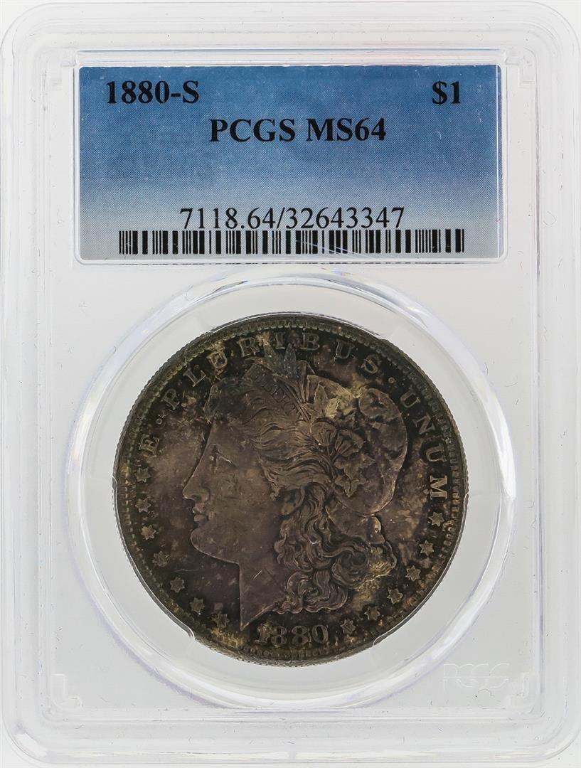 1880-S $1 Morgan Silver Dollar PCGS Graded MS64