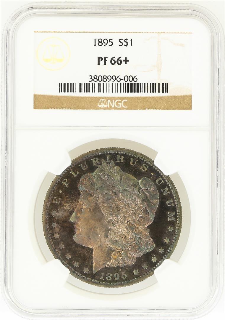1895 $1 Morgan Silver Dollar Coin NGC Graded PF66+