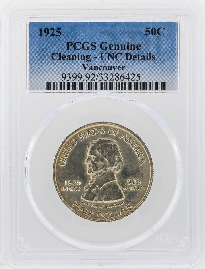 1925  Fort Vancouver Centennial Half Dollar PCGS UNC