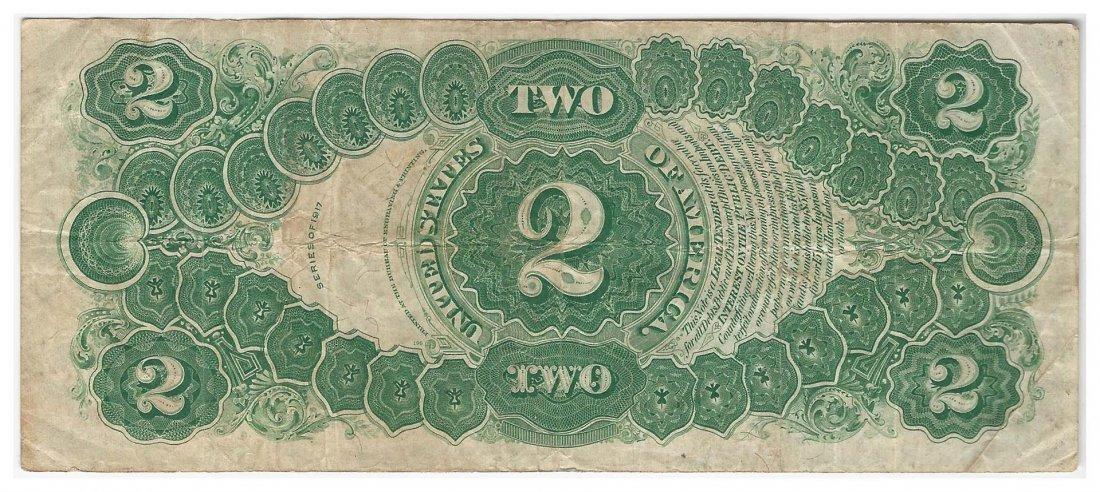 1917 $2 Legal Tender Bank Note ERROR - 2