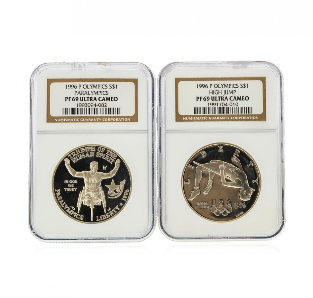 1996-P $1 Olympics Silver Coins NGC PF69 Ultra Cameo