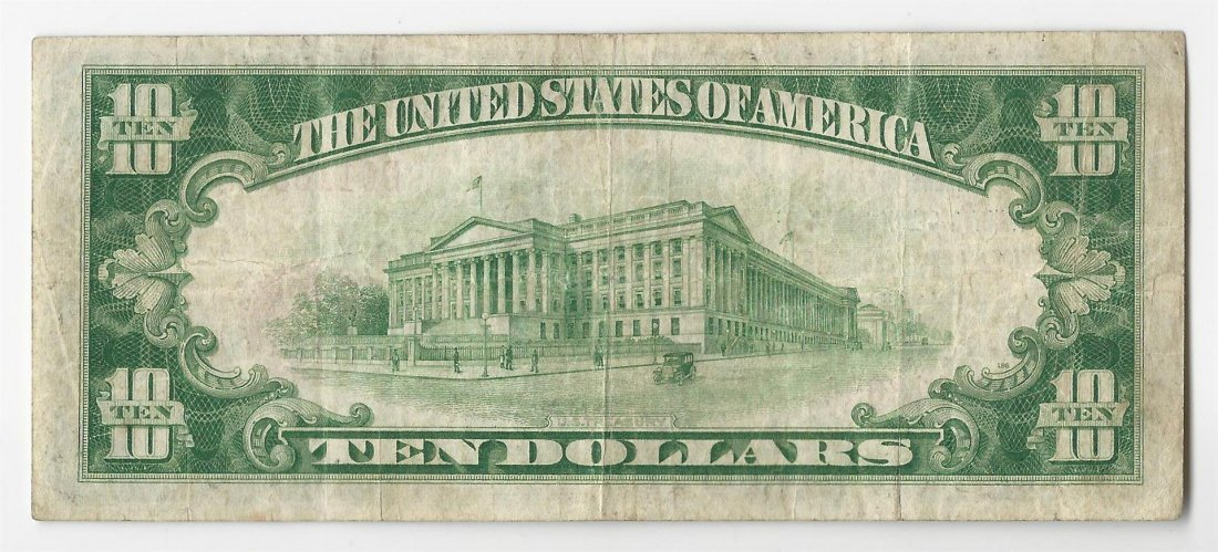 1929 $10 Los Angeles California National Currency Note - 2