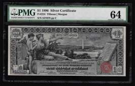 1896 $1 Silver Certificate Educational Note PMG Graded