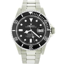 Mens Rolex Stainless Steel Date Submariner Watch with