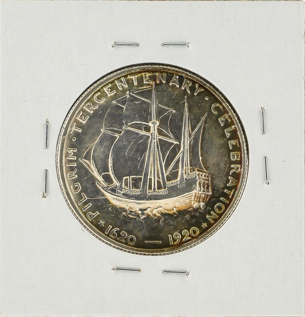 1920 Pilgrim Tercentenary Commemorative Half Dollar - 2