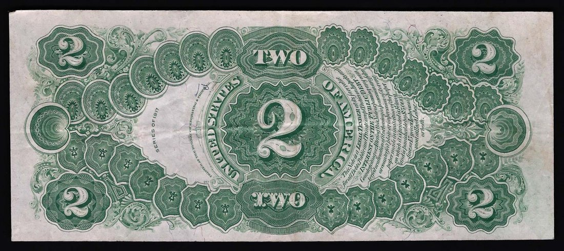 1917 $2 Large Size Legal Tender Note - 2