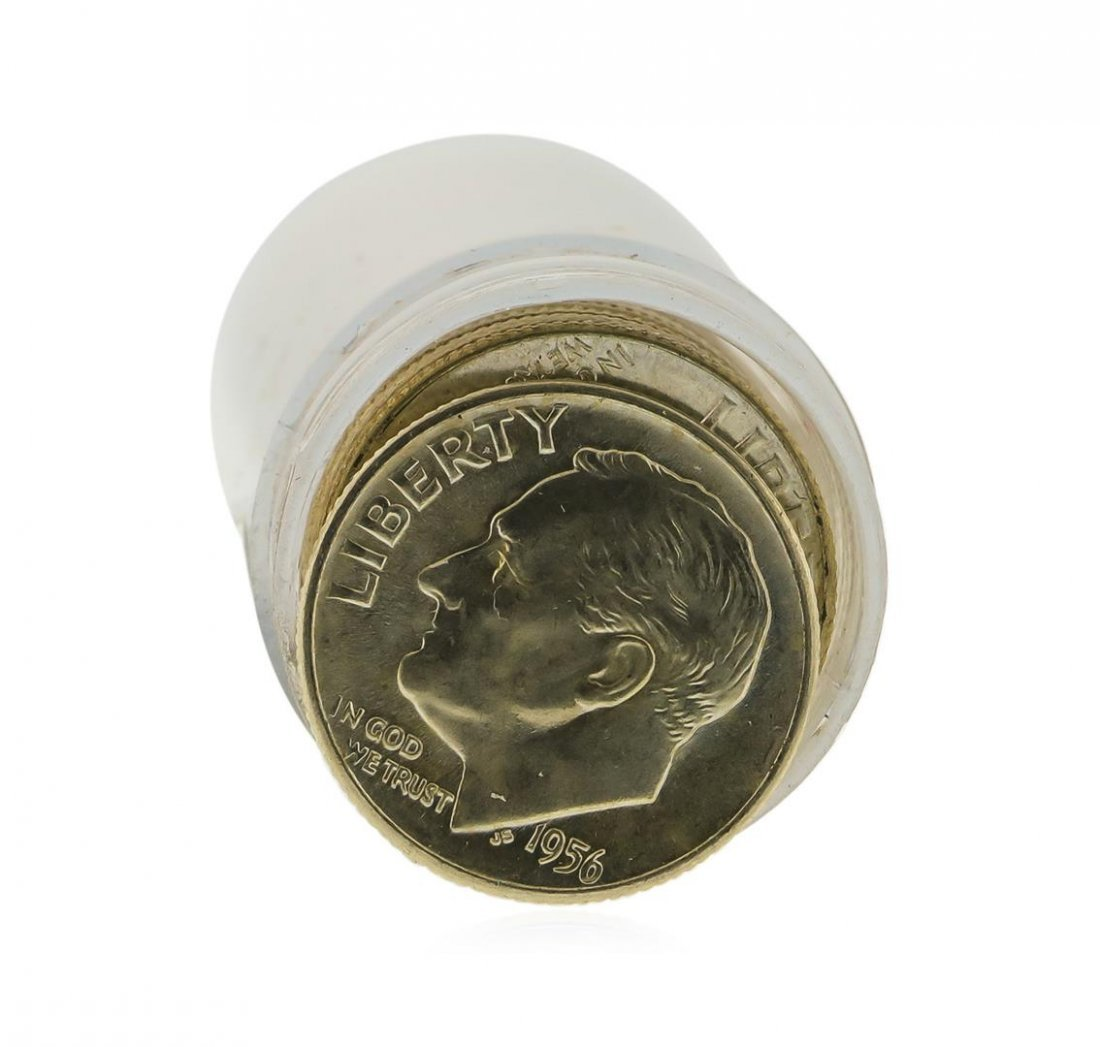 Roll of (50) 1956-D Brilliant Uncirculated Roosevelt