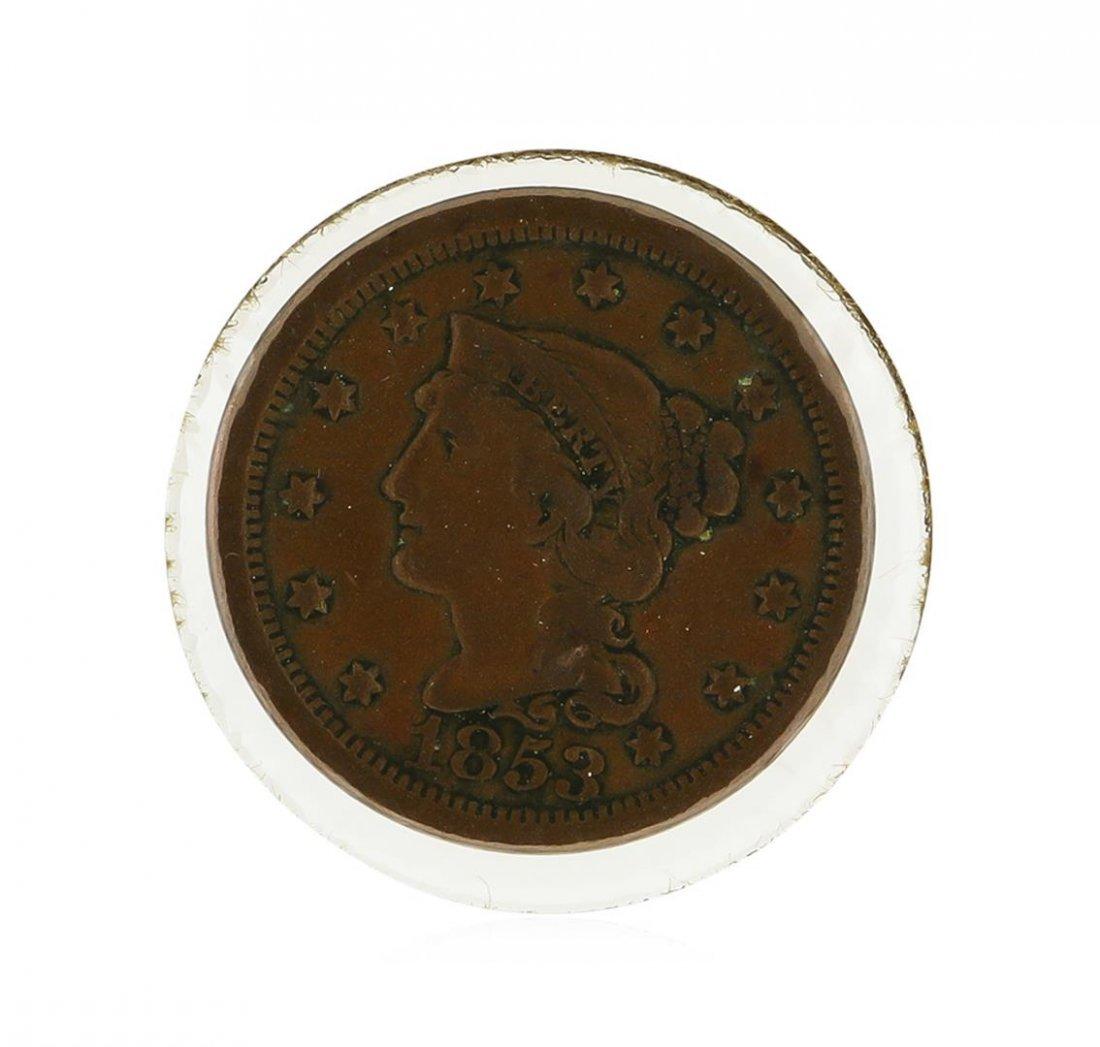 1853 Large Cent Braided Hair Coin