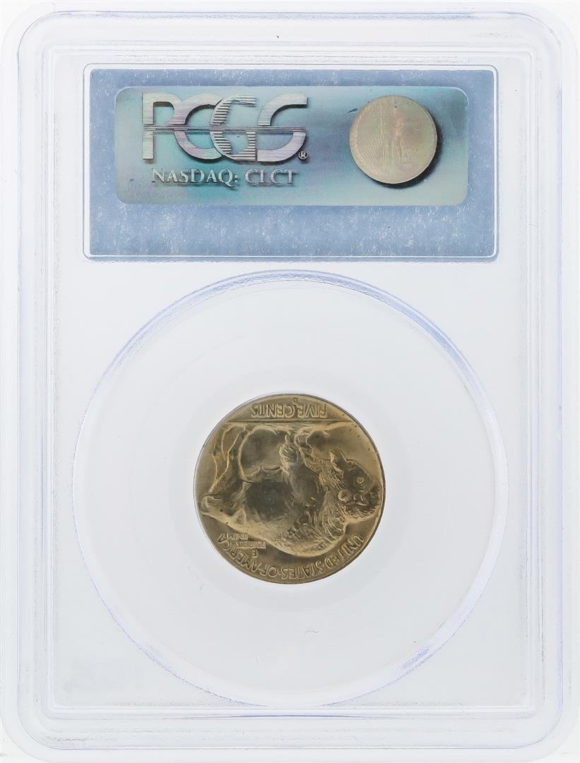 1938-D Buffalo Nickel Coin PCGS Graded MS65 - 2