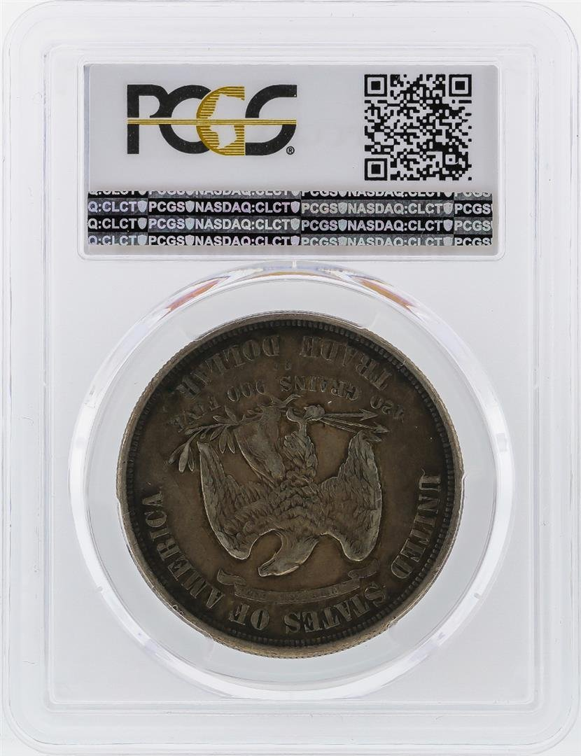 1874-CC $1 Silver Trade Dollar Coin PCGS XF40 - 2