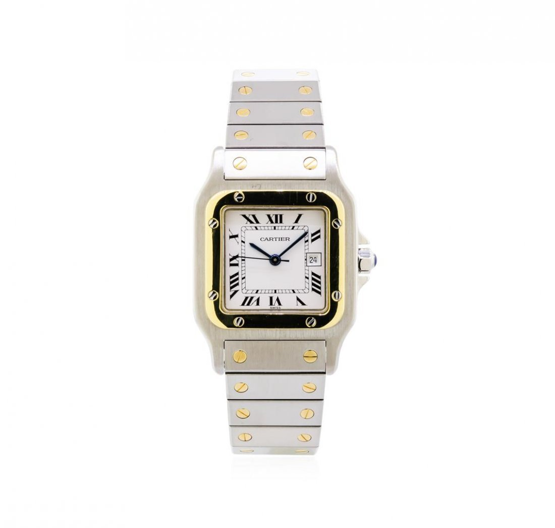 Two-Tone Cartier Santos Automatic Watch