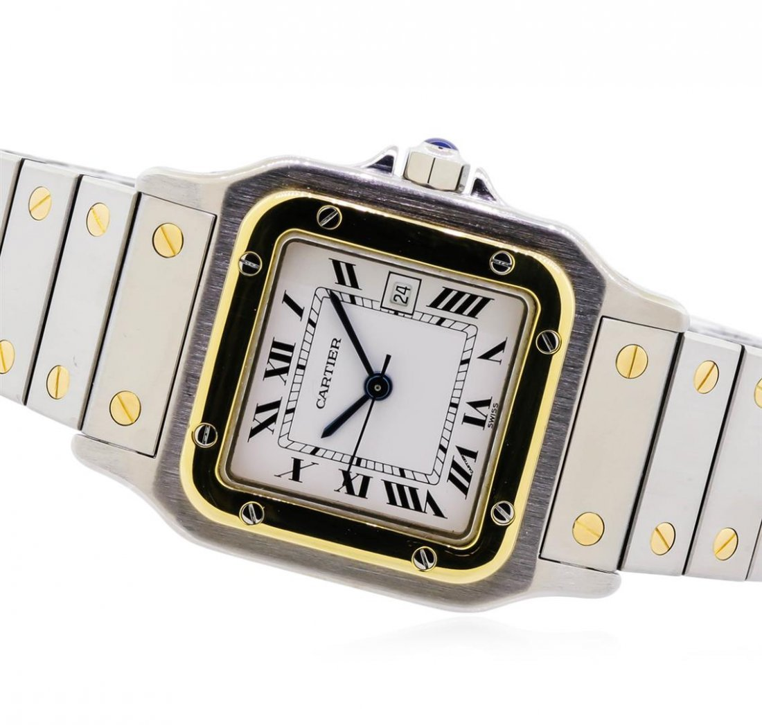 Two-Tone Cartier Santos Automatic Watch - 2