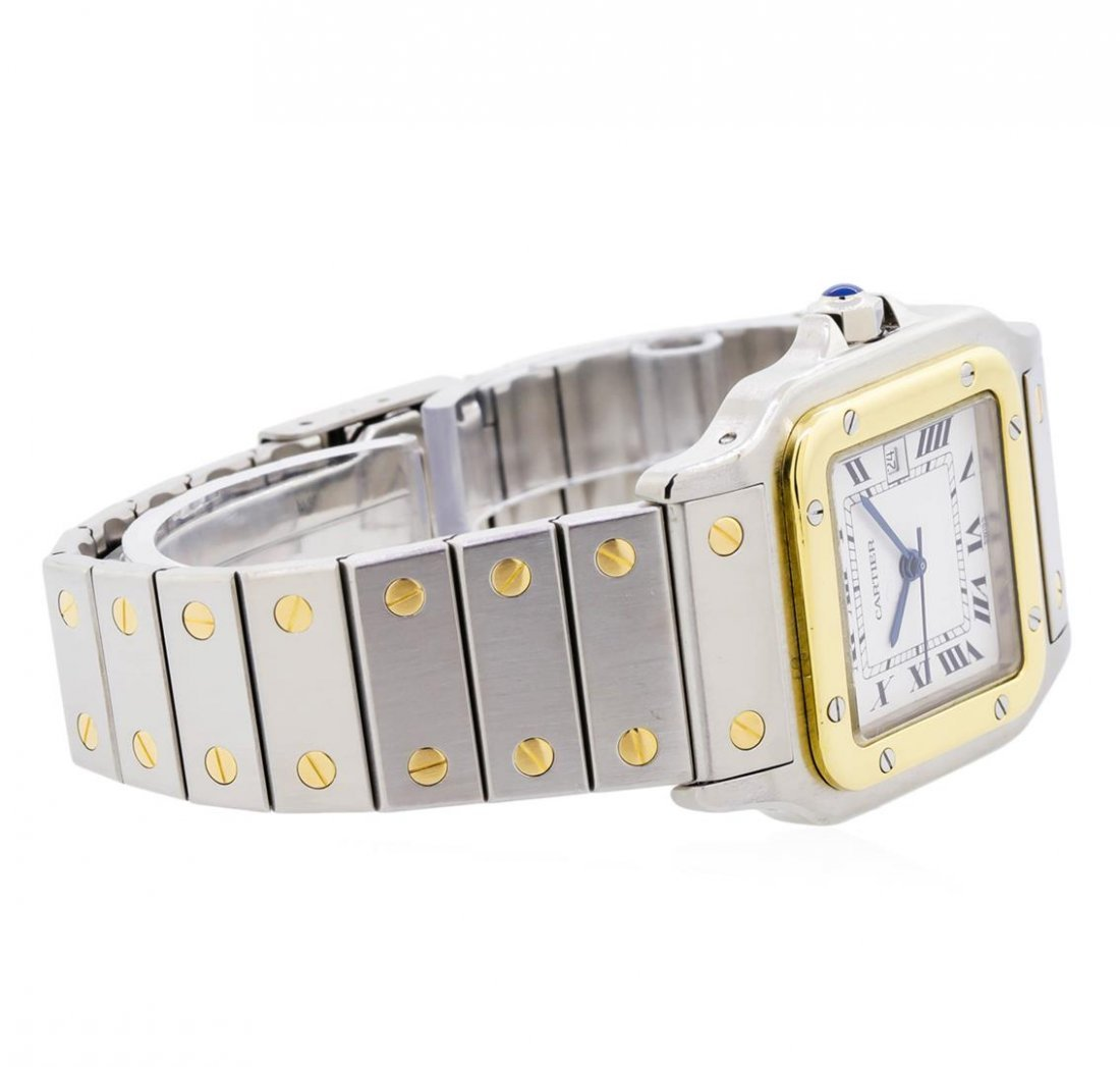 Two-Tone Cartier Santos Automatic Watch - 3