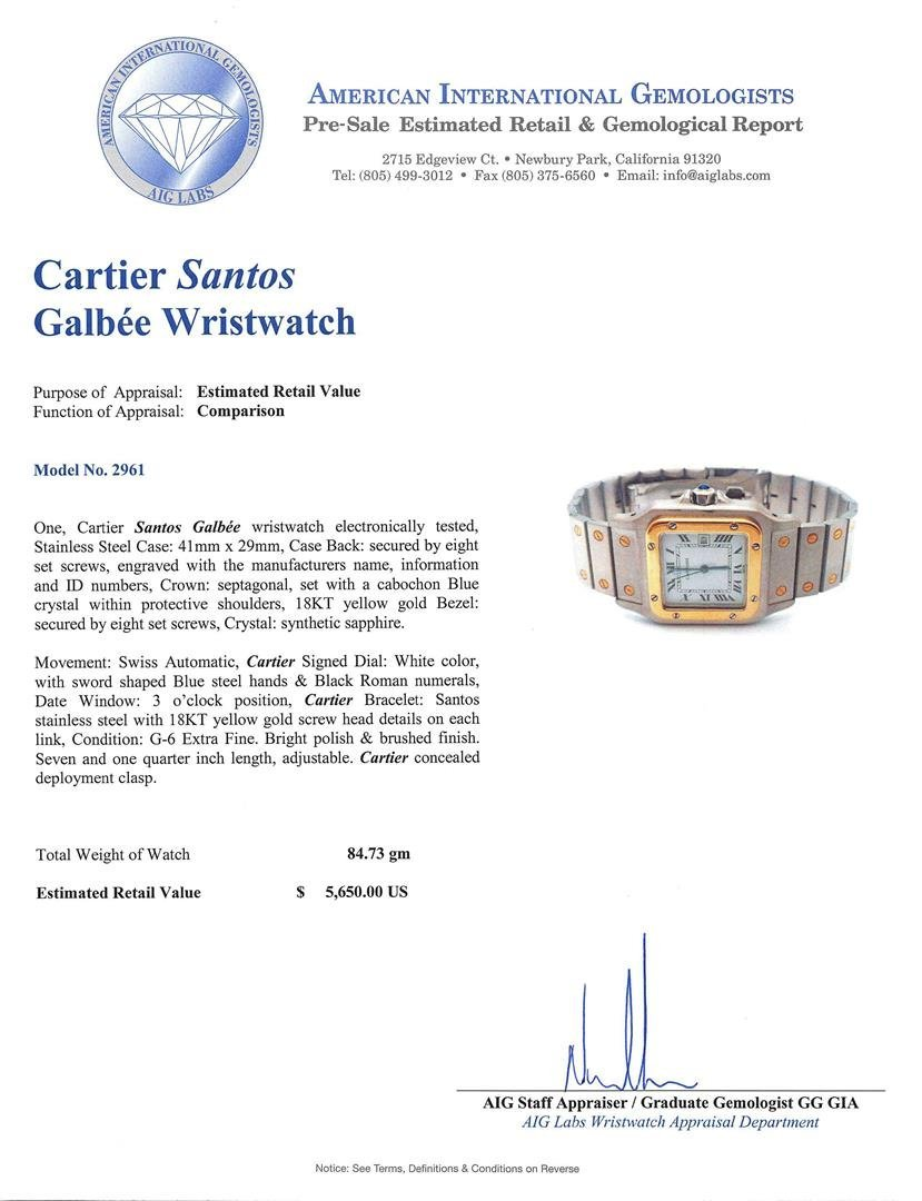 Two-Tone Cartier Santos Automatic Watch - 5