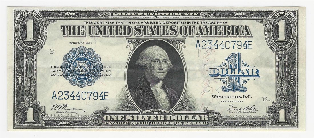 1923 $1 Large Silver Certificate Note