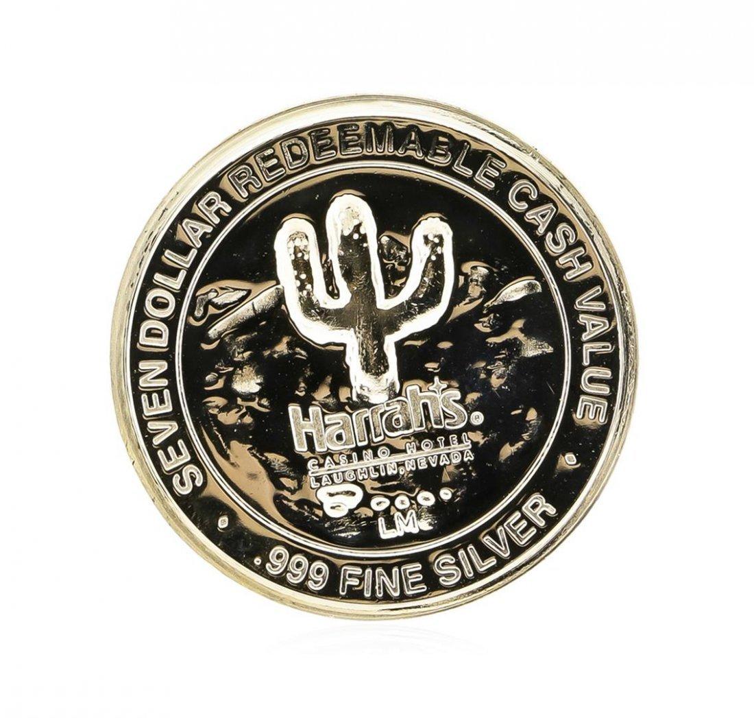 Harrahs Casino Hotel $7 Casino Gaming Token .999 Silver