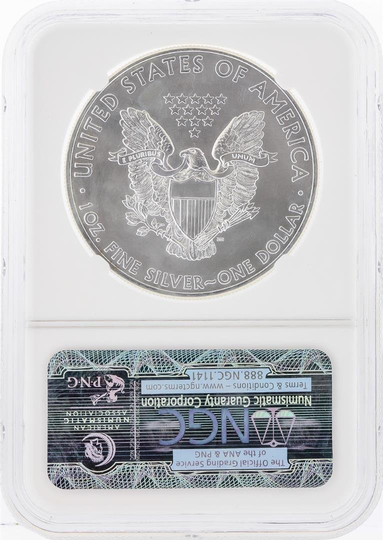 2014-W $1 American Silver Eagle Coin NGC Graded MS69 - 2