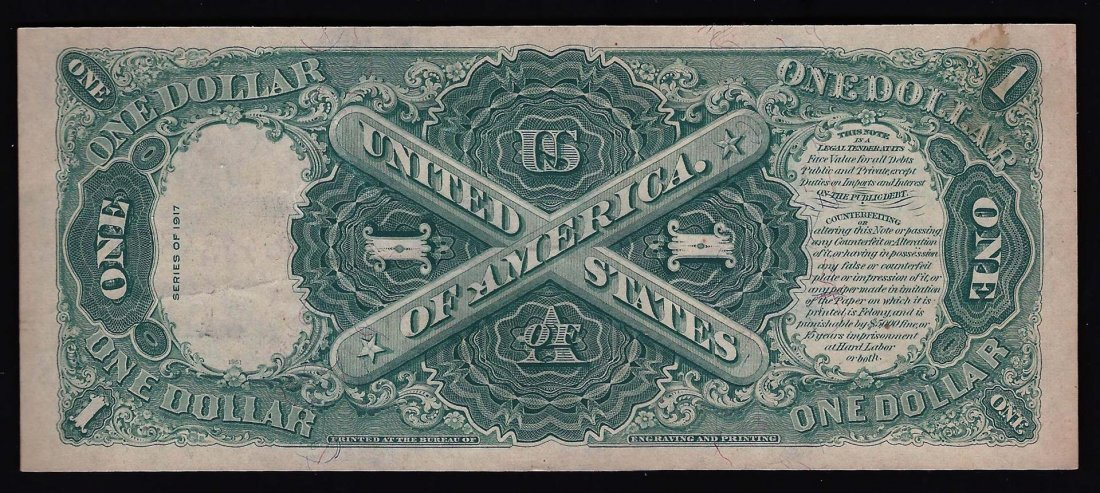 1917 $1 Large Series United States Legal Tender Note US - 2