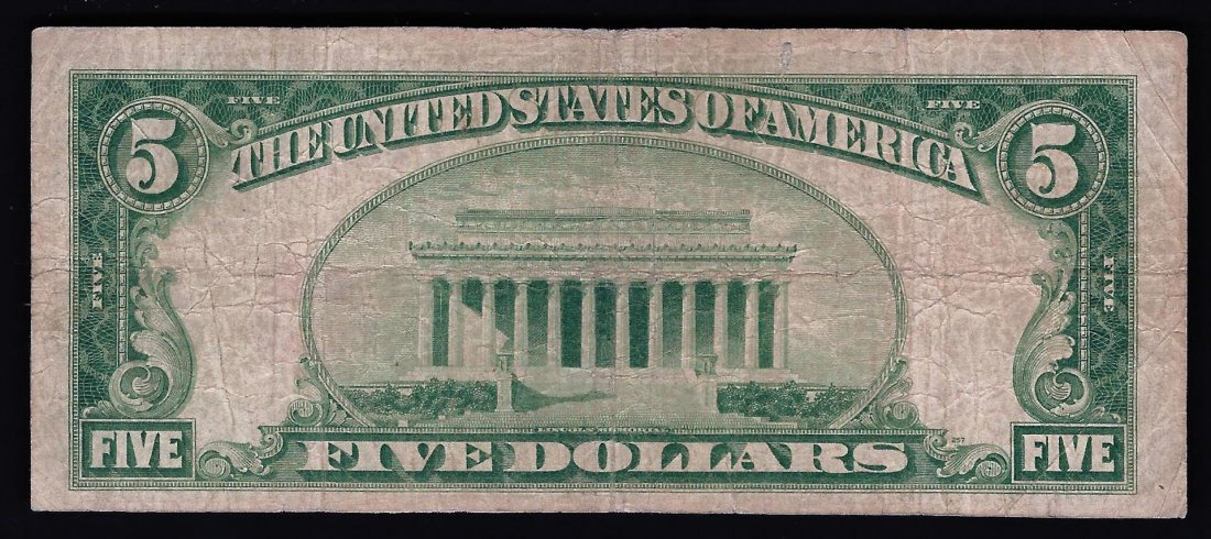 1929 $5 National Currency San Francisco CA Note - 2
