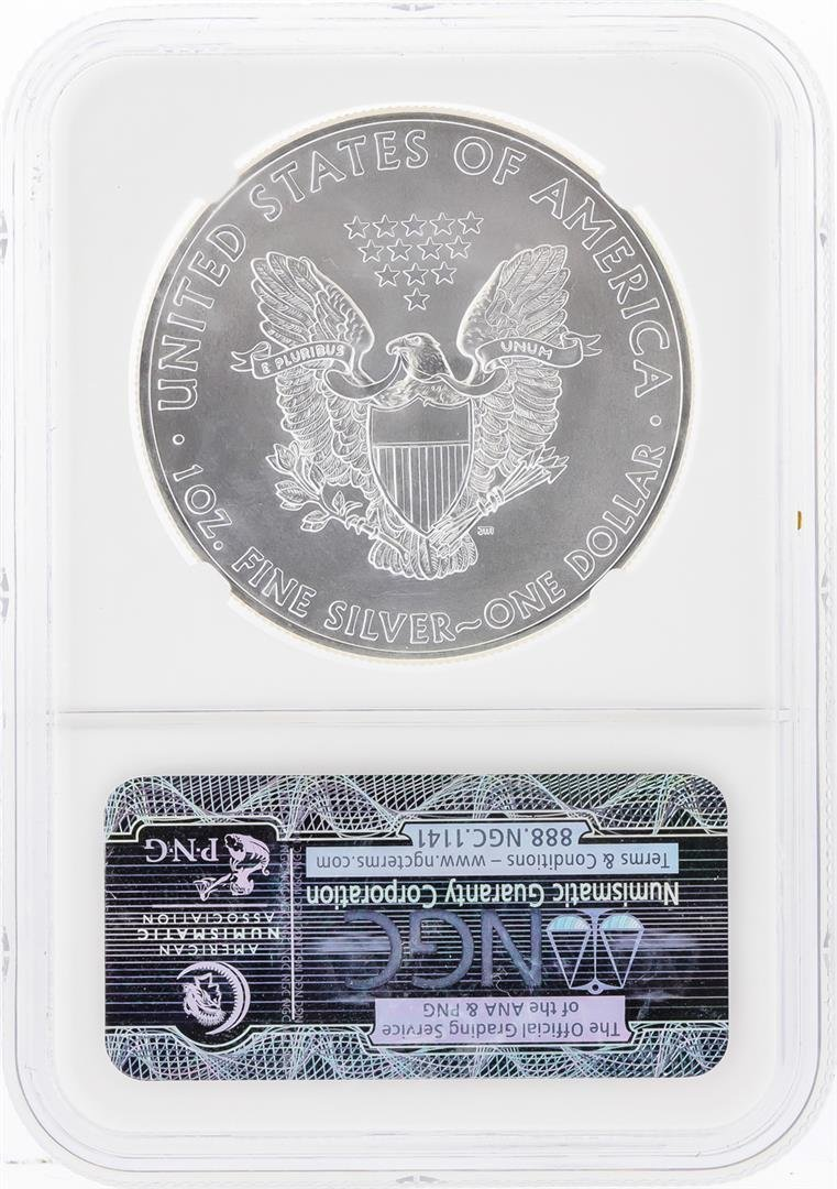 2014 $1 American Silver Eagle Coin NGC Graded MS69 - 2