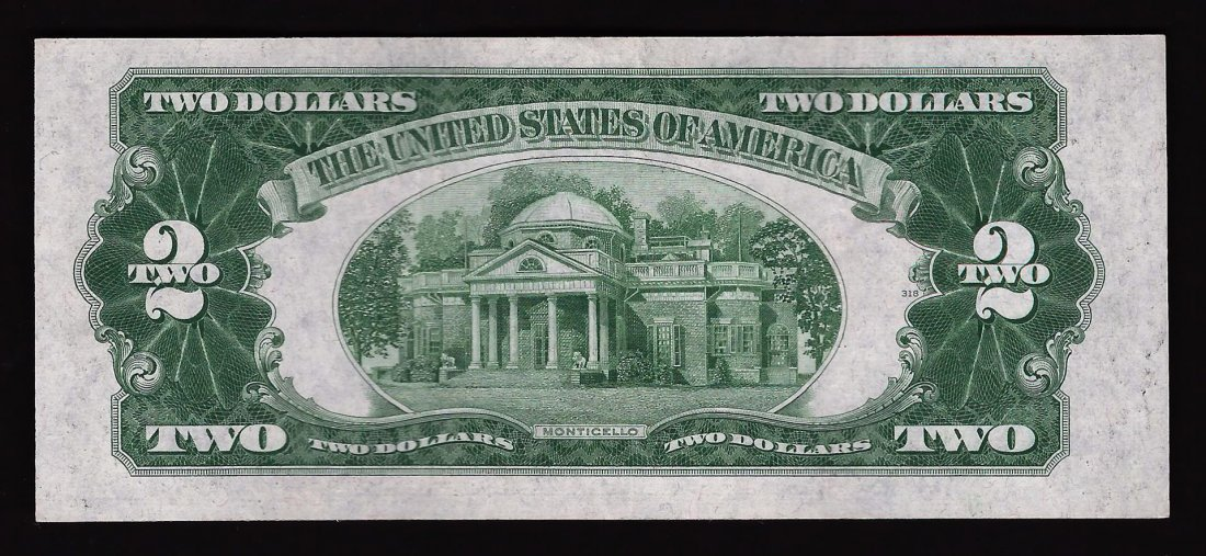 1928-D $2 Red Seal Legal Tender Bank Note - 2