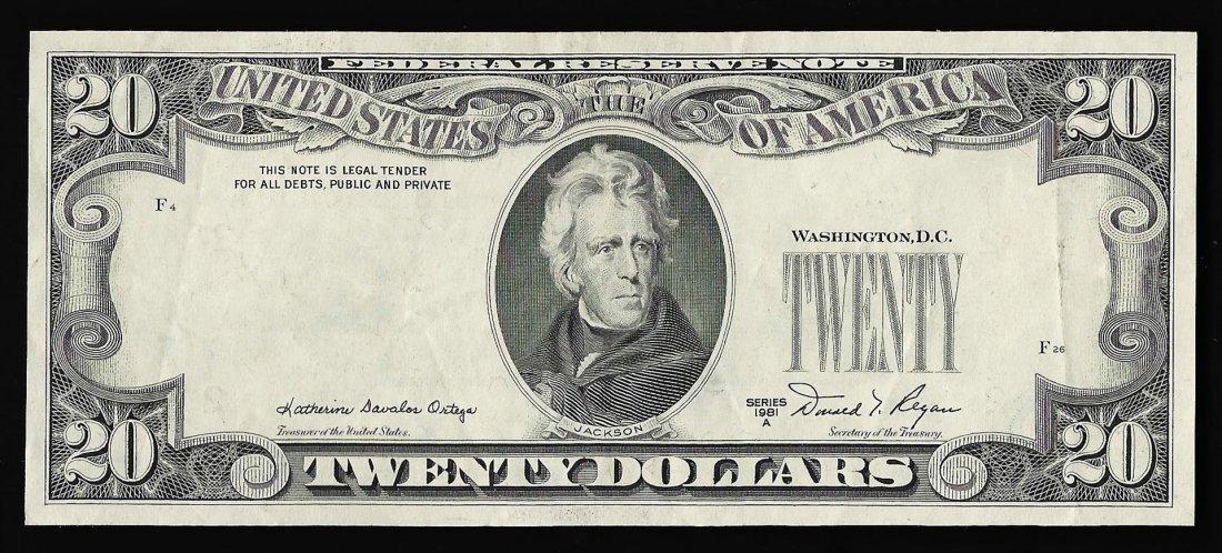 1981 $20 New York Federal Reserve Note ERROR 3rd Print