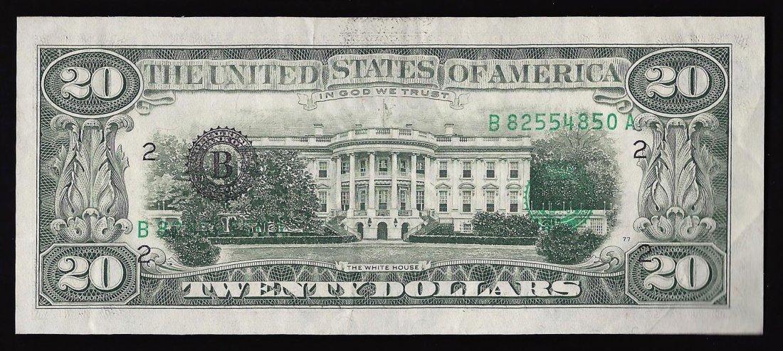 1981 $20 New York Federal Reserve Note ERROR 3rd Print - 2