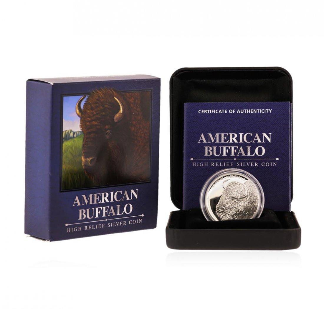 2014 $1 American Buffalo High Relief Silver Coin