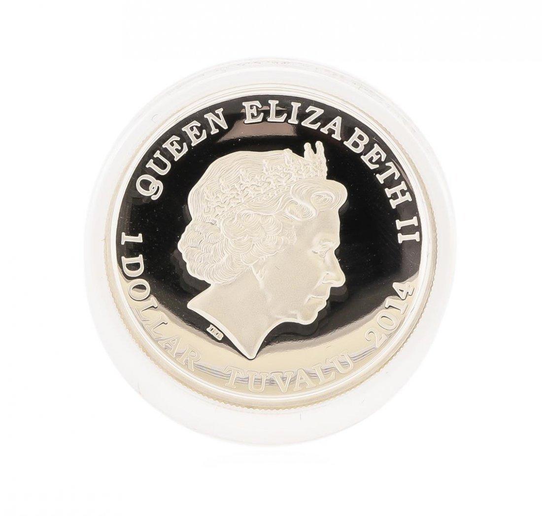 2014 $1 American Buffalo High Relief Silver Coin - 3