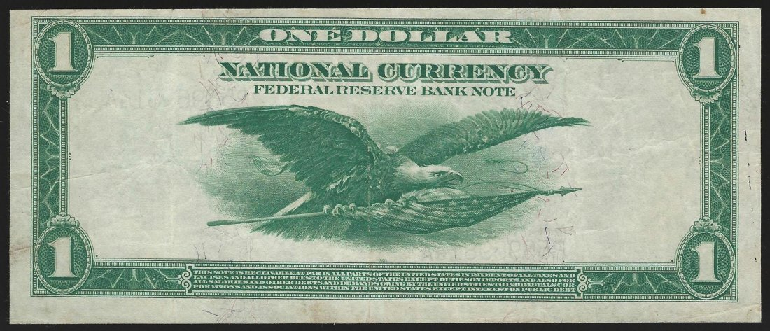 1918 $1 Federal Reserve Bank of New York, New York - 2