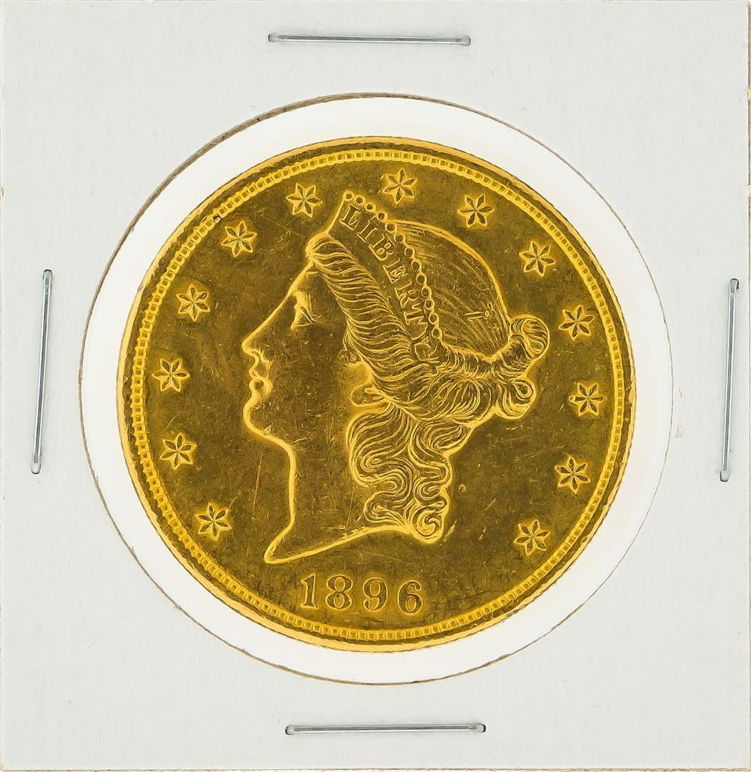 1896 $20 Liberty Head Double Eagle Gold Coin