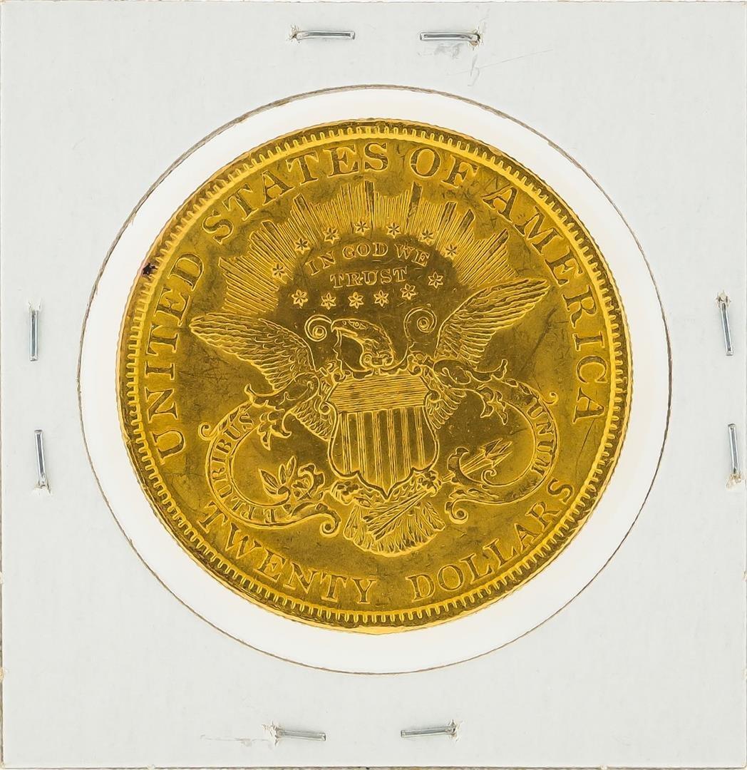1896 $20 Liberty Head Double Eagle Gold Coin - 2