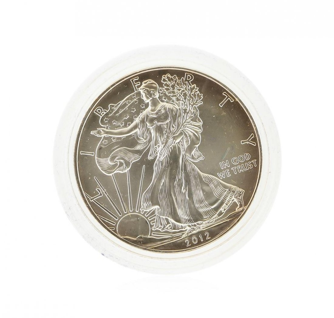 2012-W West Point Burnished American Silver Eagle Coin - 2