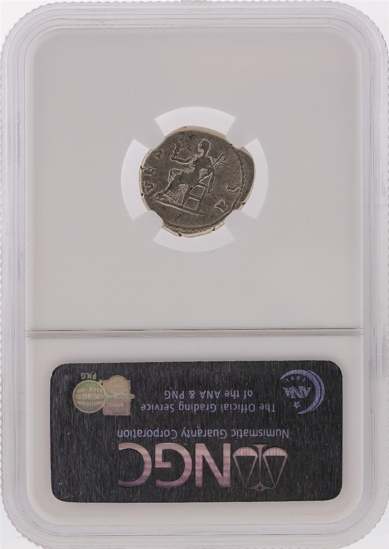 Roman Empire AD 128-136/7 Sabina AR Denarius Coin NGC - 2