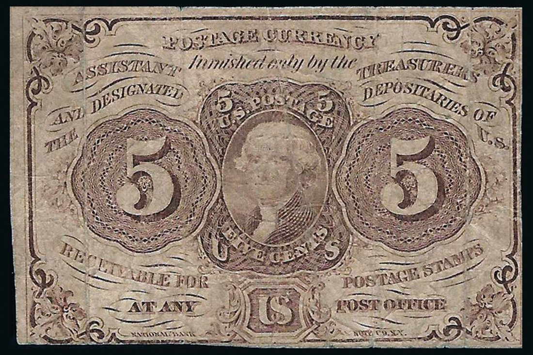 1862 5 Cent 1st Issue Fractional Note