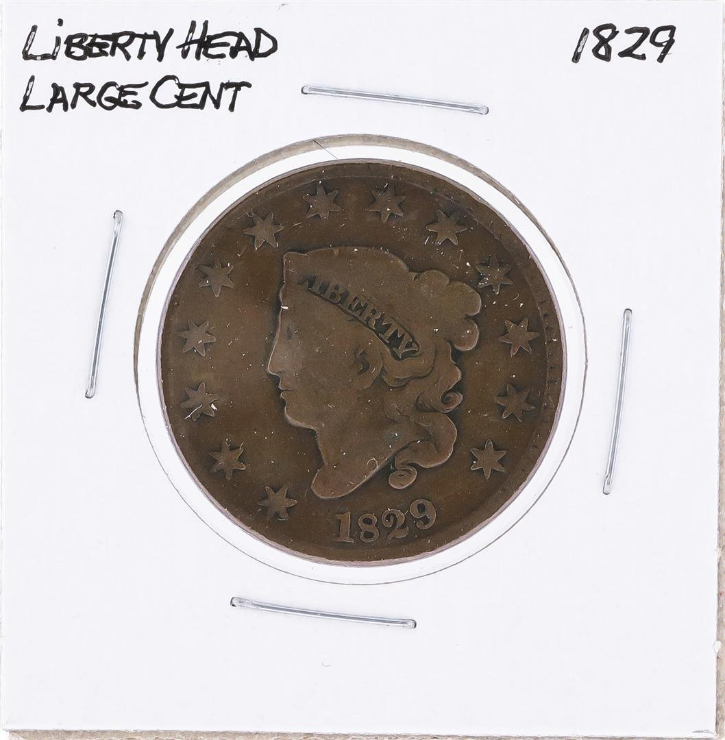 1829 Liberty Head Large Cent Coin