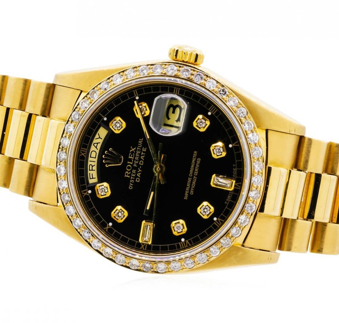 Mens 18KT Yellow Gold Rolex President Watch with - 2