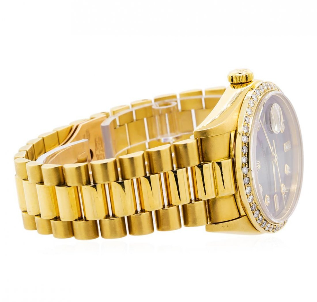 Mens 18KT Yellow Gold Rolex President Watch with - 3